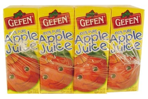 Gefen Apple Juice Box Drink, (4 Pack, 6.75 Oz. Each) Pack of 3