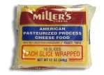 Miller's American Yellow Cheese 12 Slices 8 oz