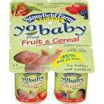 STONYFIELD FARMS ORGANIC YO BABY PLUS FRUIT & CEREAL APPLE/MIXED BERRY 6-4 OZ