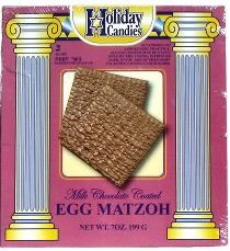 Holiday Candies Milk Chocolate Coated Egg Matzoh 7 oz