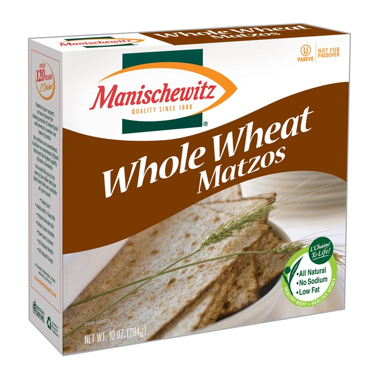 Manischewitz Passover Whole Wheat Matzo 10 oz