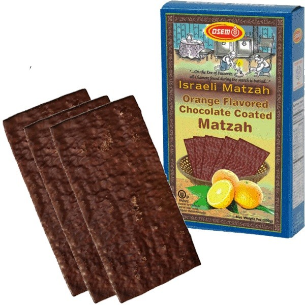 Osem Passover Israeli Matzah Orange Flavored Chocolate Coated Matzah 7 oz