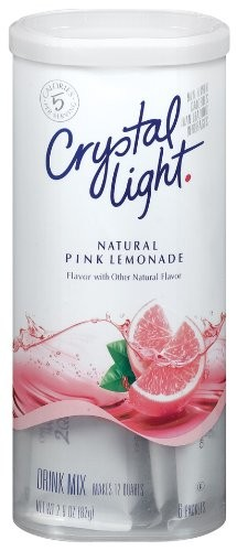 Crystal Light Pink Lemonade, (12-Quart) 2.9-Ounce Canisters (Pack of 6)