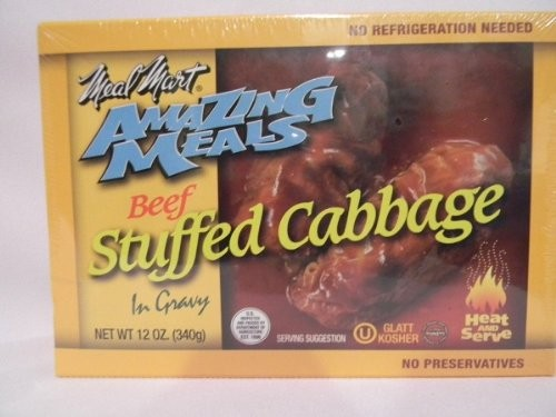 Meal Mart GLATT KOSHER Amazing Meals Stuffed Cabbage Rolls Pack of 2