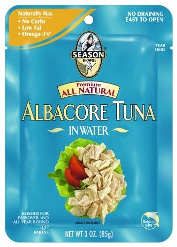 Season Brand, Kosher, Premium All Natural Albacore Tuna in Water (3 Oz.)
