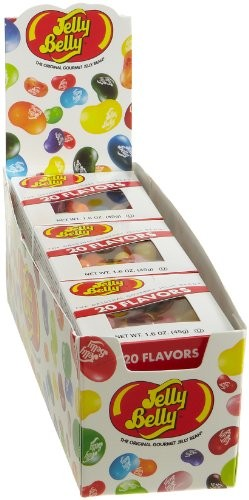 Jelly Belly Assorted Flavors, 1.6-Ounce Boxes (Pack of 12)