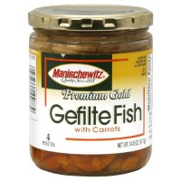 Manischewitz Premium Gold Gefilte Fish No MSG, 14.50-Ounce (Pack of 3)