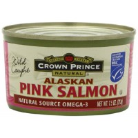 Crown Prince Natural Alaskan Pink Salmon - Low in Sodium, 7.5-Ounce Cans (Pack of 12)