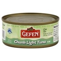 Gefen Tuna, Light Chunk Cottonseed Oil, 6-Ounce (Pack of 8)