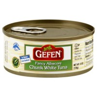 Gefen Fancy Albacore Chunk White Tuna in Water, Kosher for Passover, 6-ounce Cans (Pack of 8)