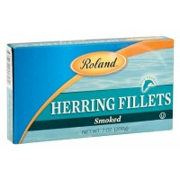 Roland Smoked Herring Fillets, 7-Ounce Box (Pack of 6)