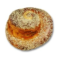 Kosher Round Holiday Egg Challah With Sesame Seeds