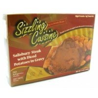 Salisbury Steak With Diced Potatoes In Gravy