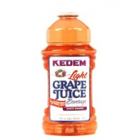 Kedem Kosher Grape Juice! Fresh, Healthy, and Delicious, 100% Pure Juice (White Grape Juice Low Carb, Half Gallon (64oz))