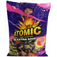 Atomic Extra Sour Chewy Cream Filled Kosher Candy (Large)