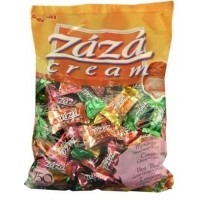 Zaza Assorted Filled Chewy Crème Kosher Taffy Candy (Large)